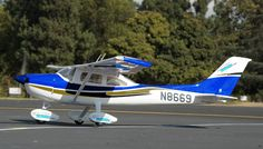 5 Channel CMP Cessna-182 Sky Trainer-50 Electric RC Plane Kit Version (Blue)