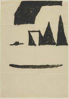 Joseph Beuys pencil and oil on paper. 1964
