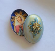 Virgin Mary Personal Pocket Art Shrine by shrinemaiden on Etsy, $16.00