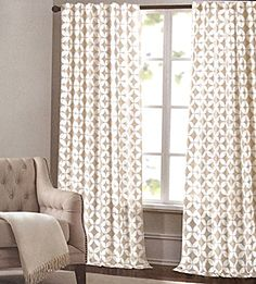 Max Studio Home Moroccan Tiles Geometric Window Panels 52 by 96-inch Set of 2 Quatrefoil Window Curtains Hidden Tabs Tan Beige Taupe Tahari Home http://www.amazon.com/dp/B0106J30CE/ref=cm_sw_r_pi_dp_A7VJvb0EVN7H9
