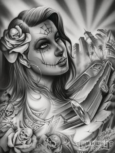Straight up Chicano Lowrider Tattoo, Arte Lowrider, Arte Dope, Chicano Love, Catrina Tattoo, Cholo Art, Chicano Tattoos, Chicano Drawings, Lowrider Drawings