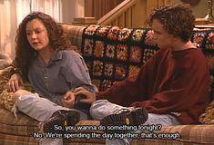 Johnny Galecki and Sara Gilbert on Roseanne Roseanne Quotes, Roseanne Tv Show, Roseanne Barr, Darlene From Roseanne, Darlene Conner, Sara Gilbert, Johnny Galecki, Gifs, Frases