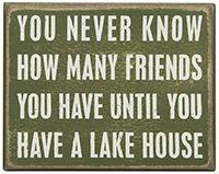 Box Sign - Lake House
