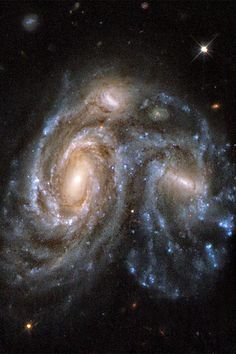 Interacting Galaxy NGC 6050 Wallpaper Edited Hubble Space Telescope of the interacting galaxies NGC 6050. By sjrankin