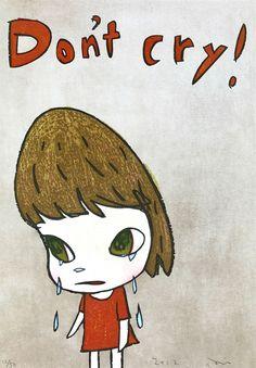 // Don't Cry by Yoshitomo Nara.