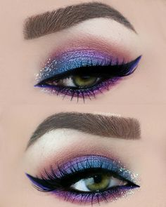 Unique HairStyles by virginia Unique Makeup, Pretty Makeup, Love Makeup, Makeup Inspo, Makeup Inspiration, Purple Makeup, Purple Eyeshadow, Style Inspiration, Makeup Goals