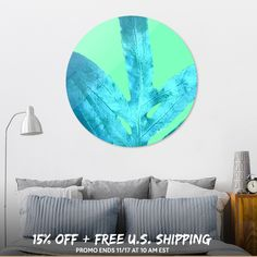 Discover «Winter Ice Fern Blue», Limited Edition Disk Print by Alicia Jones - From $65 - Curioos
