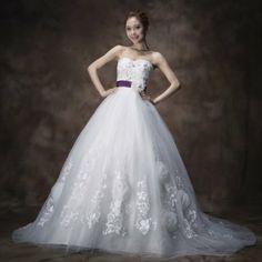 Amazon.co.jp: 花嫁 ウェディングドレス 結婚式ドレス プリンセスライン ロングドレス 舞台衣装 イブニングドレス 披露宴 姫系ドレス yh403-hs17: 服&ファッション小物