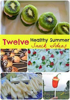 Healthy Summer Snacks Ideas.  What a fun list!