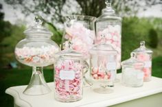old fashioned candy vases.. a must for a vintage inspired wedding!  photo credit purple martini