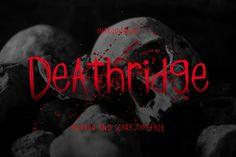 Deathridge #font #halloween #horror Halloween Fonts, Halloween Horror, Slab Serif, Party Poster, School Design, Design Bundles, Branding, Social Media, Words