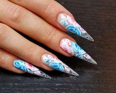One-Stroke Roses nail art by MargaritaBelska - Nail Art Gallery nailartgallery.nailsmag.com by Nails Magazine www.nailsmag.com #nailart