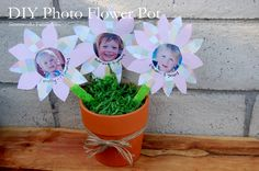 Easy Photo Flower Pot #MothersDay