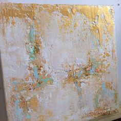 Artículos similares a Sold!!!!! Abstract Gold Leaf Painting en Etsy