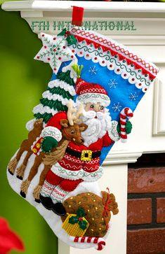 Nórdicos Santa Bucilla 18 fieltro Navidad Media Kit