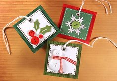 CHRiSTMaS BuTToN TaGS