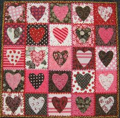 This is basically my DREAM quilt. Except I wouldn't want it to look so Valentinesy.
