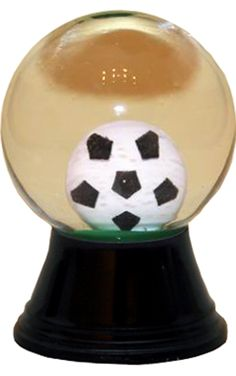 Perzy Soccer Ball Snow Globe