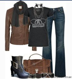 Ugh ... better boots but LOVING the jeans & jacket. .