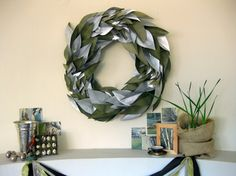 Now I'm on a nifty wreath idea hunt, thanks to @Daina Gigliotti's kick ass creativity.  This one's pretty cool.
