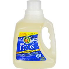 Earth Friendly Ecos Ultra 2x All Natural Laundry Detergent - Magnolia and Lily - 100 oz - This laundry liquid soap is made entirely from plants but dont think that makes it any less powerful. Only 1.5 ounces will clean and protect an entire load of your clothes with built-in fabric softener. Available in Magnolia and Lilies scent Earth Friendly Products uses only plant-based recycled animal-friendly materials to make their many useful environmentally friendly products which are…