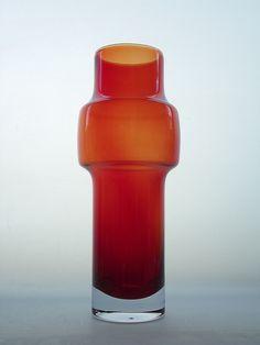 Riihimaki red cased glass vase. Designed by Tamara Aladin by art-of-glass, via Flickr