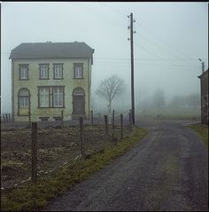Weiswampach, Luxembourg #foggy #country #road