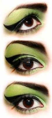 """Wicked"" eyes for Halloween www.shelbymason.com #sexyspooky #bootights #darbys #halloween"