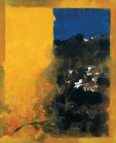 S H Raza (Indian, b. 1922) | Le Mur Jaune (The Yellow Wall), 1967. Oil on canvas.