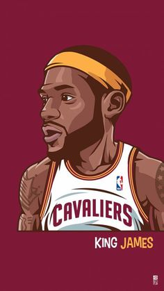 Lebron James with a large head artwork illustration