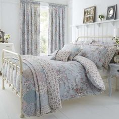 Duck Egg Bethany Bed Linen Collection | Dunelm