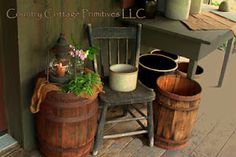when you see old chairs at flea markets gobble them up! The welcoming look on your porch will bring happiness to those who visit! Western Decor, Country Decor, Country Living, Country Front Porches, Patio Lanterns, Porch Decorating, Decorating Ideas, Summer Decorating, Rustic Patio
