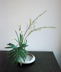 Ikebana 'Reaching out'.  Fotografia: Otomodachi, via Flickr.