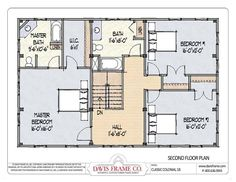 Plan 44045td Center Hall Colonial House Plan Narrow Lot House Plans Center Hall Colonial And