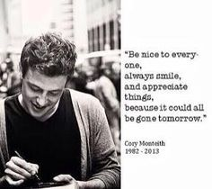 The philosophy of Cory Monteith