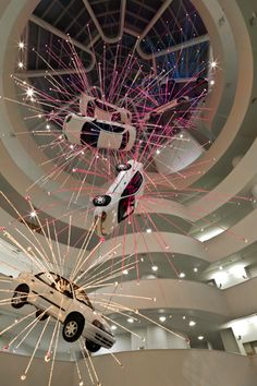 Cai Guo-Qiang, Inopportune: Stage One, 2004. From one of the best exhibitions I have ever seen.