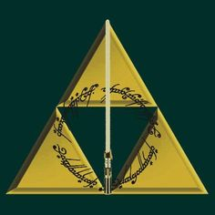 The geek's Deathly Hallows, Legend of Zelda Triforce, Star Wars Lightsaber, Lord of the Rings The One Ring.