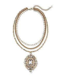 Eva Mendes Collection - Beaded Pendant Necklace - New York & Company
