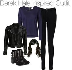 A fashion look from January 2014 featuring Vero Moda tops, VIPARO jackets and Boohoo. Browse and shop related looks. Teen Wolf Fashion, Teen Wolf Outfits, Nerd Fashion, Fandom Fashion, Punk Outfits, Teenager Outfits, Outfits For Teens, Casual Outfits, Fashion Outfits
