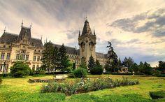 Romania Iasi palace of culture romanians beautiful eastern european cities palaces Romanian Castles, Famous Castles, Places To See, Beautiful Places, Mansions, City, World, Moldova, Peles Castle