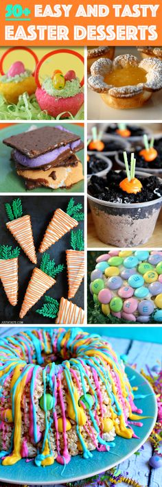 50+ Easy And Tasty Easter Desserts To Pamper Your Family With! These look like some great ideas!