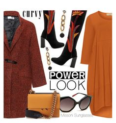 """""""Your Signature Power Look"""" by smartbuyglasses-uk ❤ liked on Polyvore featuring Bohème, Isolde Roth, Jeffrey Campbell, Marni, sunglasses, missoni, marni, curvy and powerlook"""