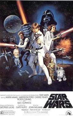Star Wars (1977) -  Luke Skywalker, a spirited farm boy, joins rebel forces to save Princess Leia from the evil Darth Vader, and the galaxy from the Empire's planet-destroying Death Star.