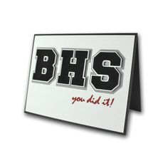 School Diecut Letters Graduation Card