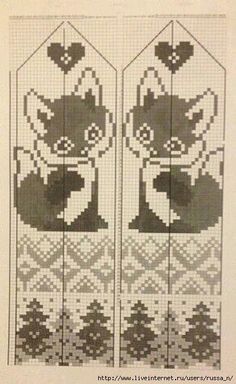 This Pin was discovered by Юли Filet Crochet, Crochet Chart, Knit Crochet, Knitting Charts, Knitting Stitches, Baby Knitting, Knitting Patterns, Knitted Mittens Pattern, Knit Mittens