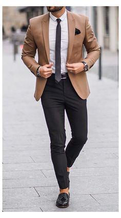 Blazer Outfits Men, Mens Fashion Blazer, Stylish Mens Outfits, Suit Fashion, Stylish Clothes For Men, Classy Clothes, Fashion Clothes For Men, Mens Blazer Styles, Classic Mens Fashion