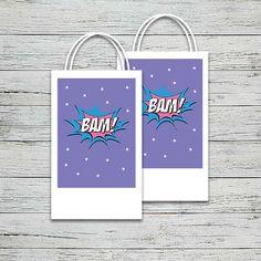 Supergirl Party Bag Label | Jackal Design