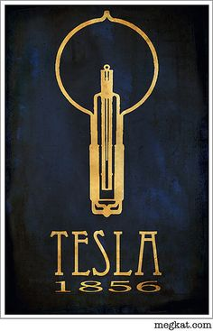 Tesla Poster | Rockstar Scientist | Megan Lee