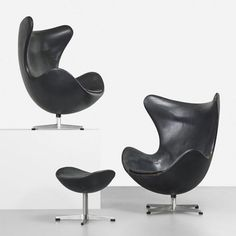 Arne Jacobsen, the Egg lounge chair, designed in 1958. / Live Auctioneers