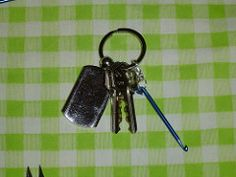 Key Chain Crochet Hook – A tutorial. Great for picking up dropped stitches on the go!